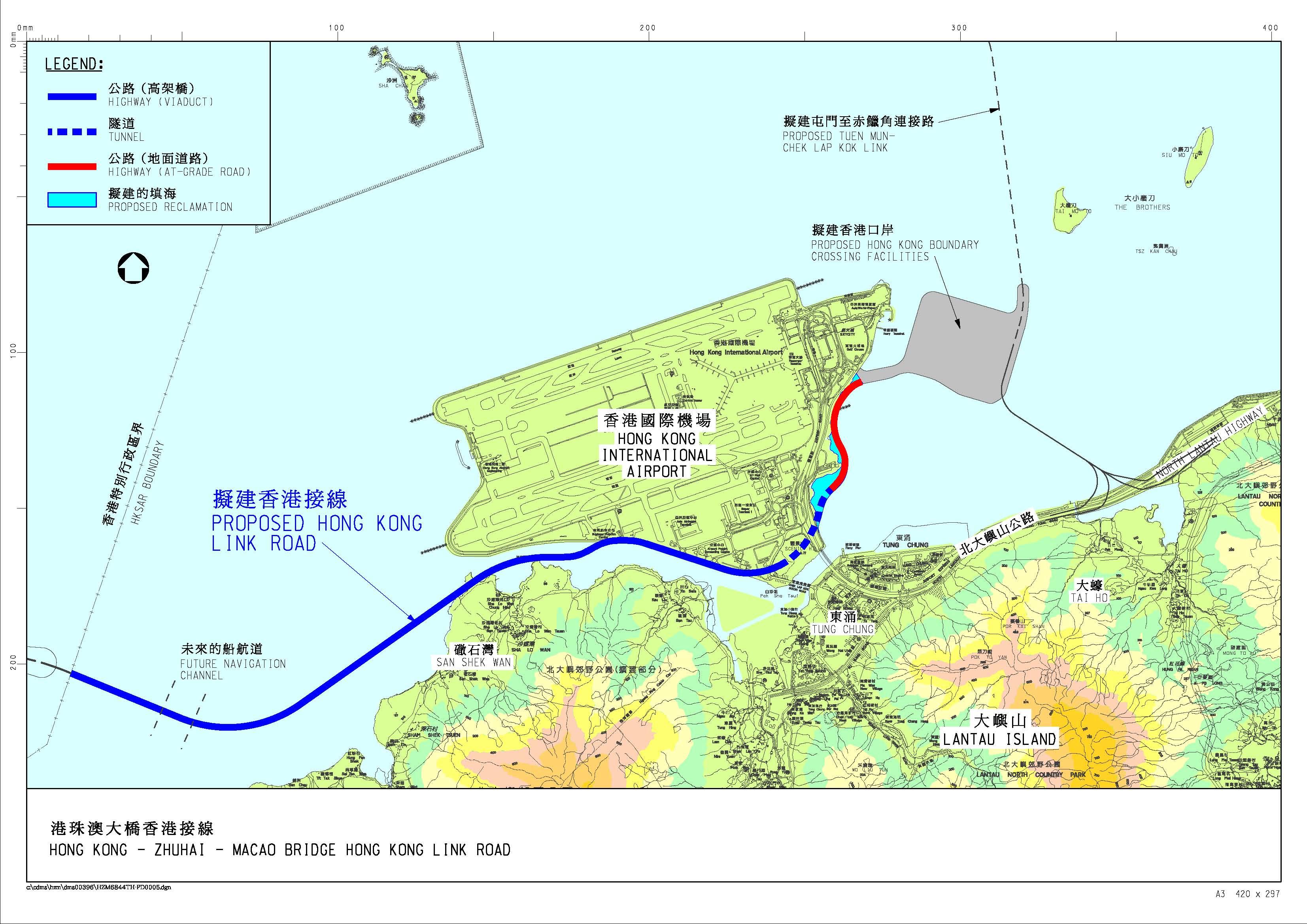 大桥香港接线图