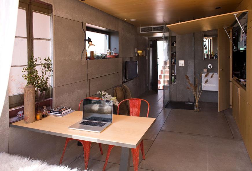 「Tiny House」地方雖少,但由於所有的間隔都收在牆內,所以空間感也很充足。(圖片來源:互聯網)